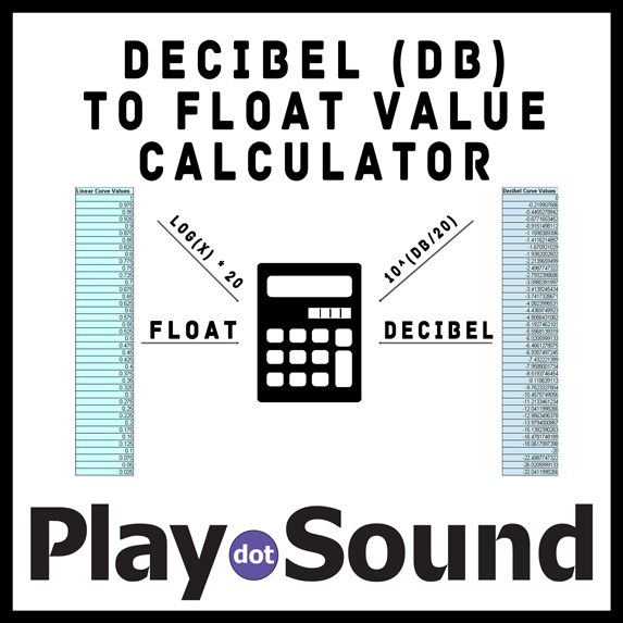 Decibel-(dB)-to-Float-Value-Calculator Play Dot Sound PDS PlayDotSound